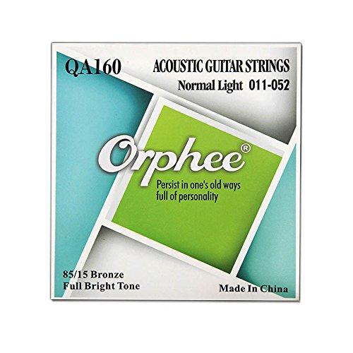 Orphee 5 pieces Acoustic Guitar Strings QA140 / QA150 / QA160 / QA170 / QA180 Full Bright Tone Guitar Strings Guitar Accessories (QA160)