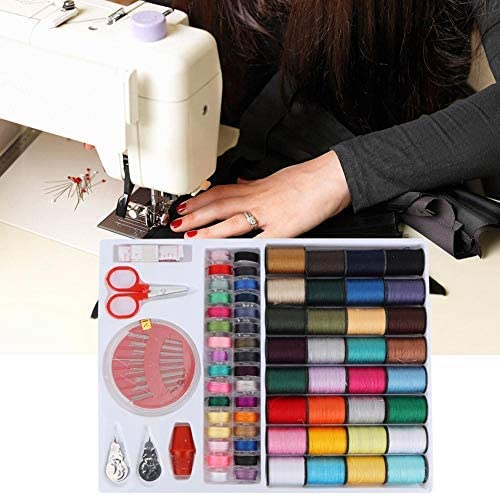 64PCS Kit de Costura, Máquina de Mano Colorida Hilo de Coser ...