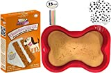 Happybotham Dog Birthday Party Supplies | Puppy Cake Peanut Butter Dog Cake Mix and Frosting | 7×10 Dog Bone Silicone Shaped Cake Pan | 6 Pack Dog Paws Balloons | Birthday Candles (Styles May Vary) For Sale