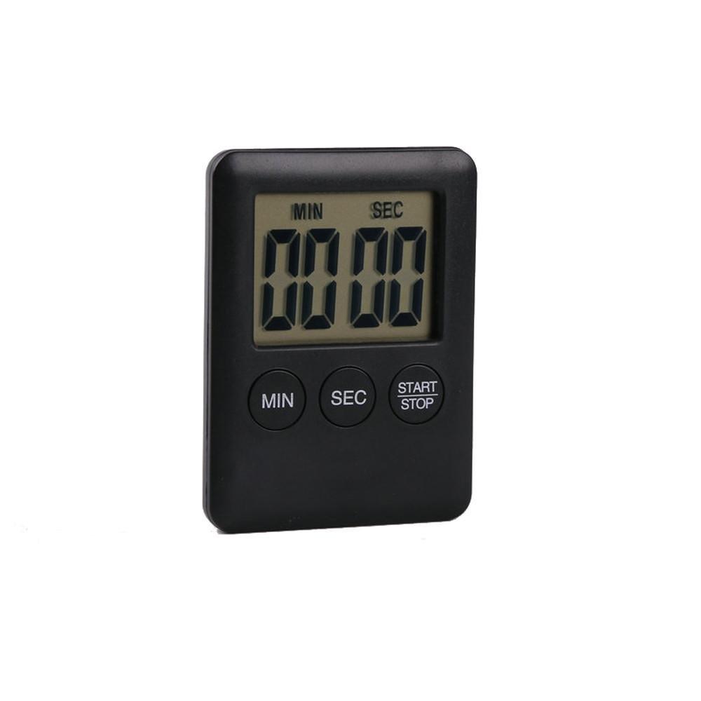 Digital Timer Doinshop Reminder Alarm LCD Cooking Clock Kitchen Count-Down Up Loud (Black)