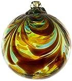 Kitras Art Glass Decorative Feather Ball, 3-Inch, Belonging
