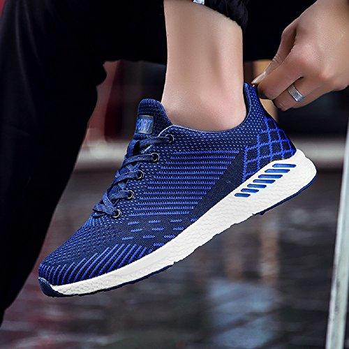 de Zapatillas Running Hombre 36 Sneakers Mujer Asfalto Negro en 48 Azul Unisex Azul Exterior Correr Rojo Deportes XpwfqTFq