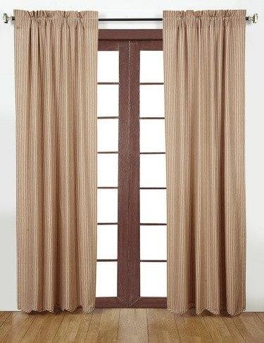 Ticking Stripe Panel (Cheston Stripe Scalloped Lined Panel Curtains 84