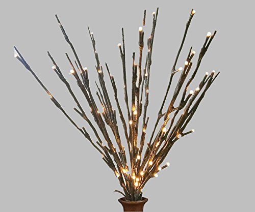 Lighted Twigs Home Decorating: Led Branches Battery Powered Decorative Lights Willow Twig Lighted Branch For