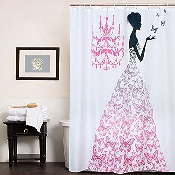Amazon Fabric Polyester PINK Butterfly Princess Waterproof
