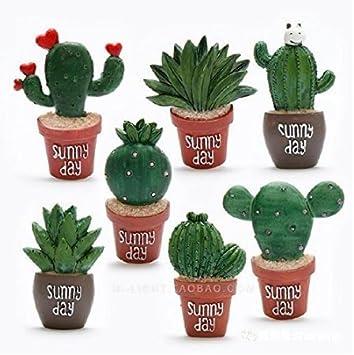 UChic 8pcs Creative imanes para Nevera Resina Cactus y Aloe Cocina ...
