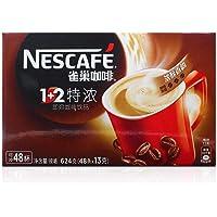 雀巢Nestle咖啡1+2三合一咖啡速溶咖啡特浓(13 * 48条)624g