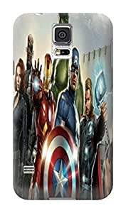 Patricia Alvarez Coolest Samsung GalaxyS5 TPU Stars Marvel Avengers Captain America Cases Cover Standard Size