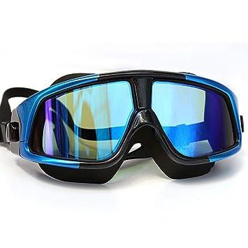 MUTANG - Gafas de natación polarizadas Transparentes con Marco de Gran tamaño, Lentes de Espejo