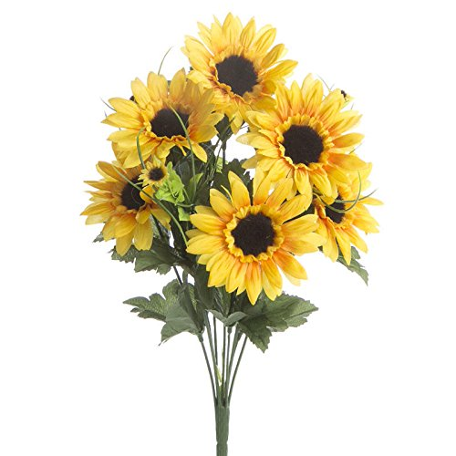 Factory Direct Craft® Pair of Artificial Sunflower and Black Eyed Susan Bushes for Home Decor, Crafting and - Sunflower Bush