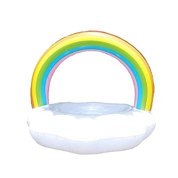 XinHome - Anillo Hinchable para Piscina Gigante con Bomba de natación y Flotador para Adultos y niños, Small with Pump: Amazon.es: Deportes y aire libre