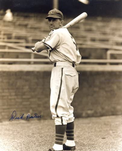 Autographed// Original Signed 8x10 Sepia Photo Showing Him with the Chicago Cubs in 1939 Dick Bartell D. 1995