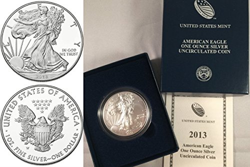 2013 2013 W 1oz Silver Uncirculated Coin $1 American E coin uncirculated Uncertified