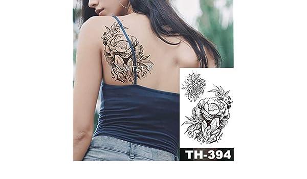 5Pc-Impermeabile Sticker Tattoo Fiori Di Giglio Bella Tatto Spalla ...