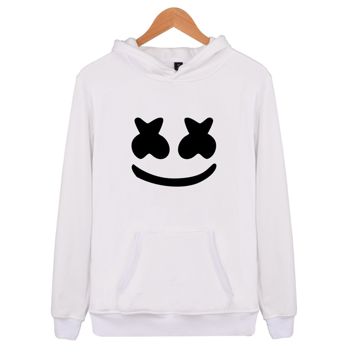 SIMYJOY Lovers Smiley Face Felpe con Cappuccio Suono Elettrico EDM Cool Hip Pop Pullover per Uomo Donna Teen