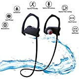 Bluetooth Headset Avilana Wireless Bluetooth Headphone | Wireless Sports Bluetooth Headphones Noise Cancelling Headphones Sweat Proof IPX5 | Wireless Headphones for Womens and Mens
