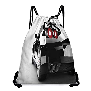 Amazon.com | Yoga backpack Cars Decor Collection Rear View ...