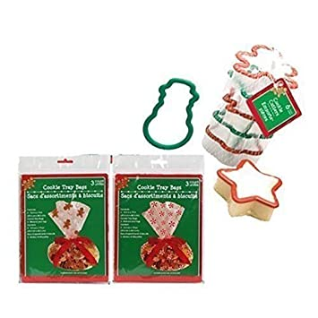 Amazon Com Cellophane Christmas Inspired Cookie Tray Gift