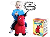 Image of Jumpzeez Inflatable Riding Horse with Real Neigh Sounds and Pump & Plug Remover