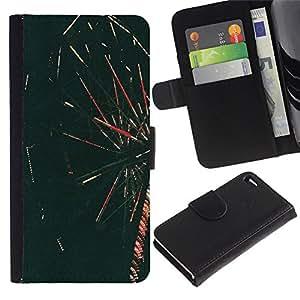 Ir Alrededor Foto Retro- la tarjeta de Crédito Slots PU Funda de cuero Monedero caso cubierta de piel Para Apple Apple iPhone 4 / iPhone 4S