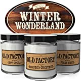 Old Factory Scented Candles - Winter Wonderland - Decorative Aromatherapy - Handmade in the USA with Only the Best Fragrance Oils - 3 x 4-ounce Soy Candles