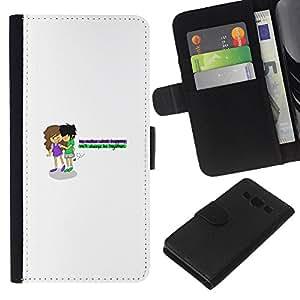 LECELL--Cuero de la tarjeta la carpeta del tirón Smartphone Slots Protección Holder For Samsung Galaxy A3 -- Amor de Young --