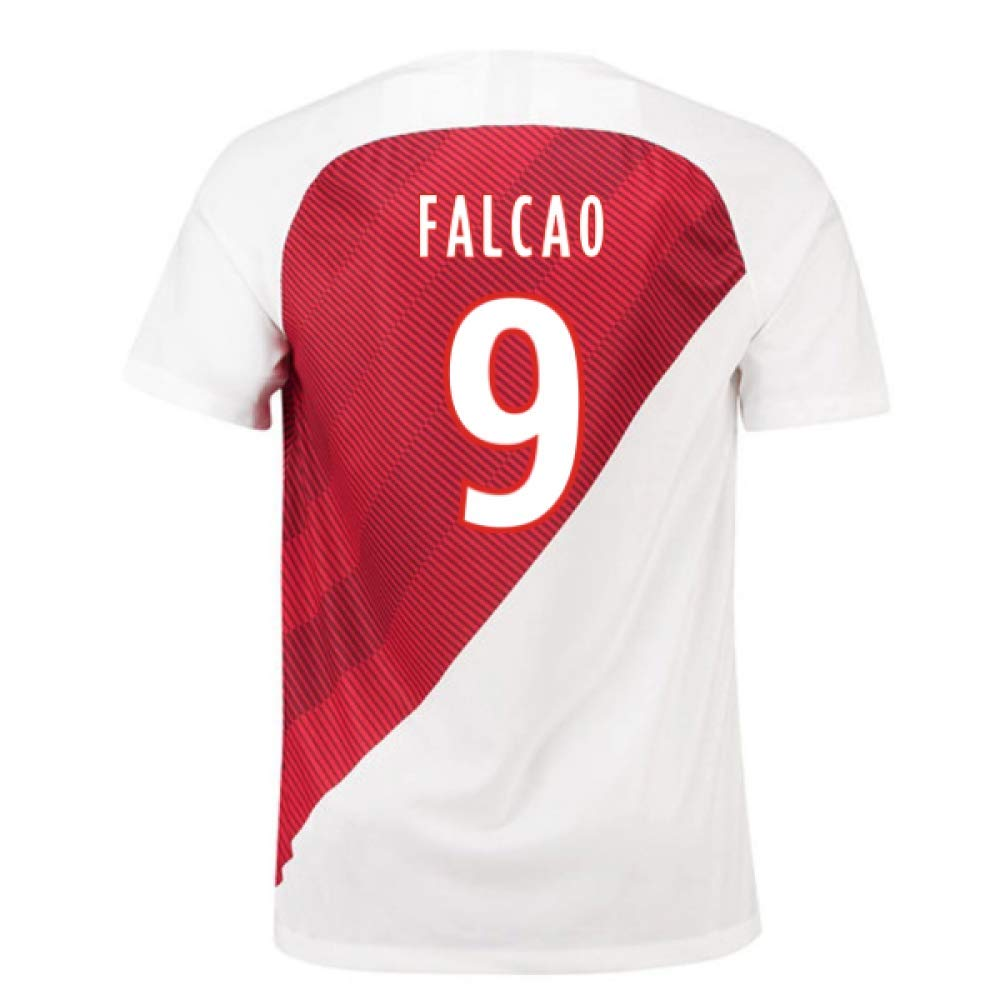 2018-19 Monaco Home Football Soccer T-Shirt Trikot (Radamel Falcao 9) - Kids