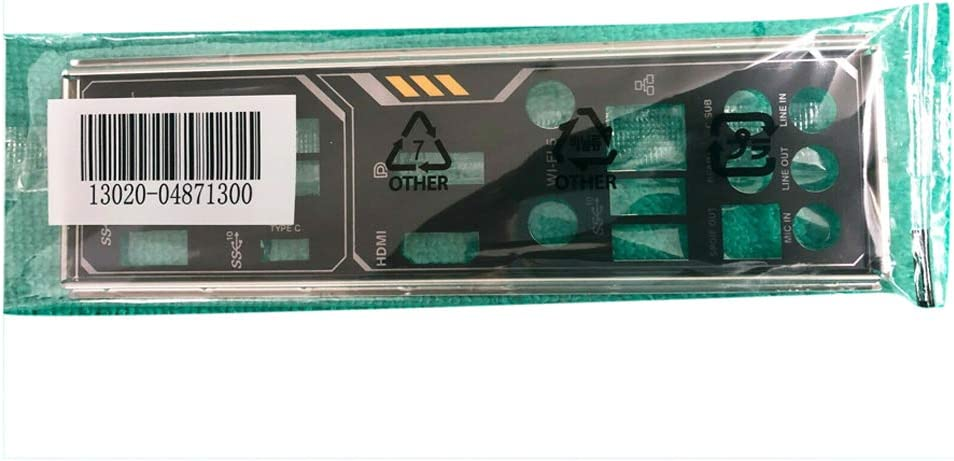 Zahara I/O Shield Motherboard Backplate IO Replacement for ASUS TUF Gaming X570-PLUS (WI-FI)