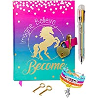 Life is a Doodle Diary with Lock for Girls - Unicorn Journal with Upgraded Lock and Keys, Notebook Pages for Secret…
