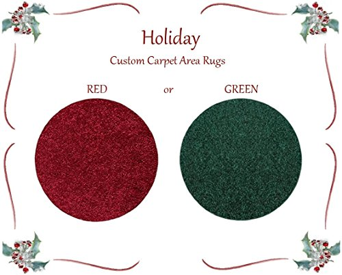 Novelty Red or Green Christmas Round Carpet Tree Stand / Skirt Floor Accent Area Rug