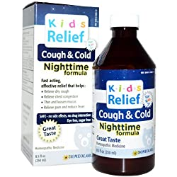 Kids Relief Homeolab Cough and Cold Night, 8.5 Fluid Ounce