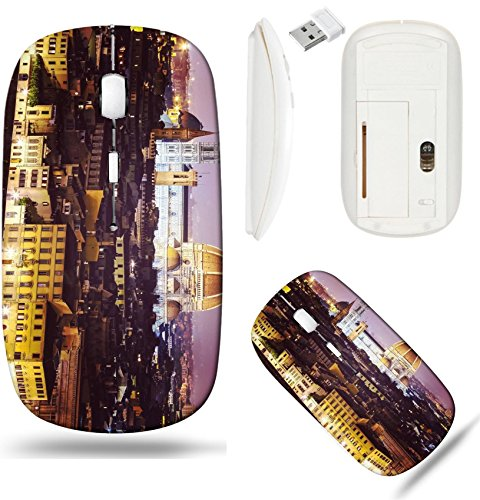 Liili Wireless Mouse White Base Travel 2.4G Wireless Mice with USB Receiver, Click with 1000 DPI for notebook, pc, laptop, computer, mac book IMAGE ID 31967305 Vintage filtered picture of Florence at (Florence Scroll)