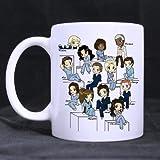 Funny Surgeon Mug - Grey's Anatomy Characters?Coffee?Mug Ceramic?Material?Mugs Tea?Cup White?11oz