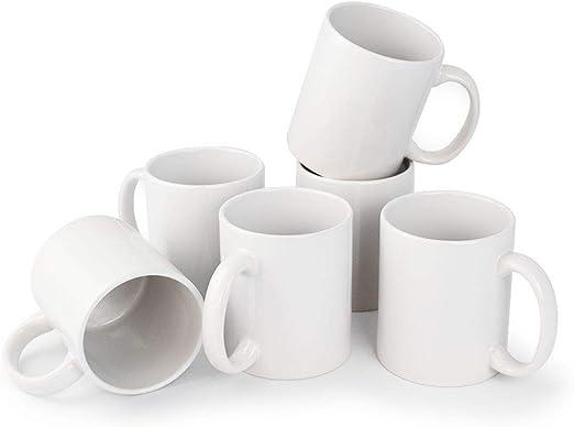 6er Set Tasse Tassen 300 ml Kaffeetasse große Becher Keramik