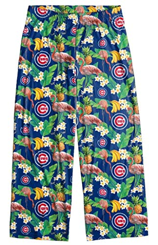 Chicago Cubs Men's Scatter Pattern Floral Pajama Lounge Pants 2XL - Mens Cubs Chicago Pattern