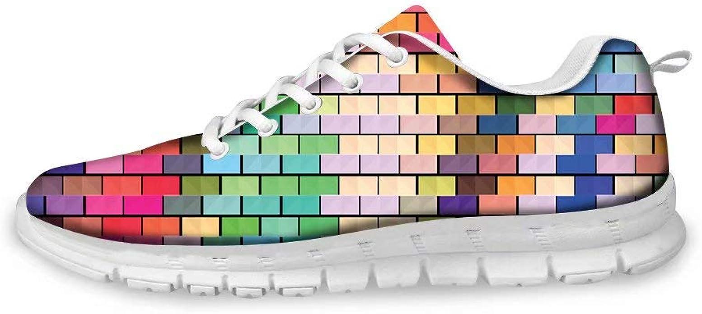 MODEGA Bunte Schuhe Plaid Turnschuhe leicht Schuhe Schnürsenkel für Männer grau Design Turnschuhe für Männer Tennisschuhe Trainingsschuhe für Frauen