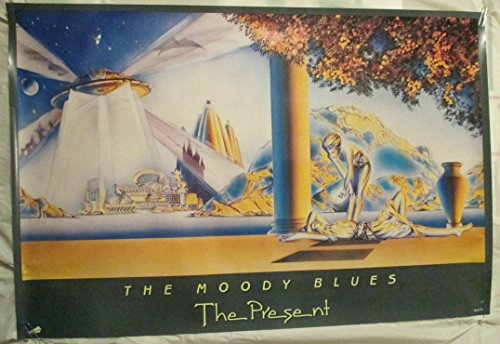 1983 Moody Blues The Present Maxfield Parrish Album Poster
