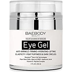 Baebody Eye Gel for Dark Circles, Puffiness, Wrinkles and Bags. - The Most Effective Anti-Aging Eye Gel for Under and Around Eyes. - 1.7 fl oz