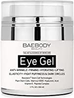 Baebody Eye Gel for Dark Circles, Puffiness, Wrinkles and Bags. - The Most Effective Anti-Aging Eye Gel for Under and Around Eyes - 1.7 fl. oz.
