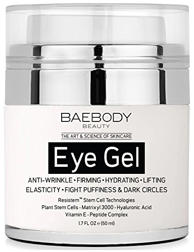Baebody Eye Gel for Dark Circles, Puffiness, Wrinkles and Bags - The Most Effective Anti-Aging Eye Gel for Under and Around Eyes. - 1.7 fl oz
