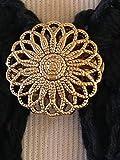 The mattie gold tone flower sweater clip brooch