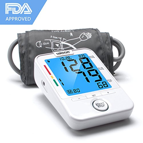 Urion Blood Pressure Monitor Sphygmomanometer - Automatic Blood Pressure Machine, Blood Pressure Monitor Upper Arm for Wide Range BP Monitor, High Blood Pressure Monitor 2 User Mode