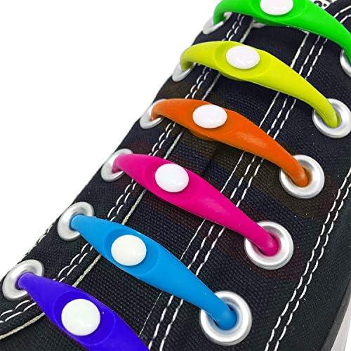 Runsdeepカラフル 結ばない靴紐 伸縮するワンタッチ靴ひも/靴の頻繁な着脱、ウォーキング、お子様、高齢者、手先の不自由な方