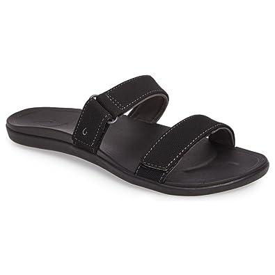 667dd3421e8 OLUKAI Kipuka - Womens Comfort Slide Sandals Black Black - 5