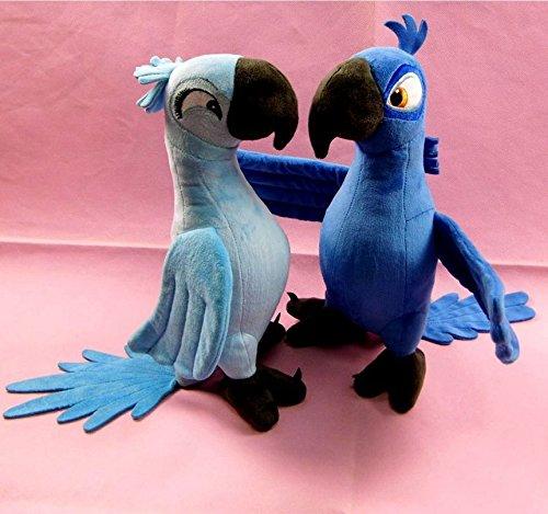 Good 2 Pcs BLU & JEWEL 35cm Rio Plush Toy Parrot Bird Stuffed Animal Doll xmas gift (Toys Rio 2 Jewel)
