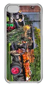 Customized iphone 5C PC Transparent Case - The Funky Pumpkin Truck Personalized Cover