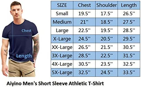 51N2UUGjLML. AC Aiyino Men's S-5XL Short Sleeve Athletic T-Shirt Classic Top Casual Workout Sports Summer Shirts    Product Description