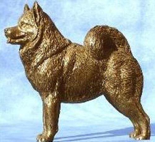 DannyQuest Designs Alaskan Malamute: Cold-cast Bronze Figurine 6 Inches Long #63-005
