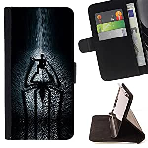 For Sony Xperia Z3 D6603 Spider Shadow Beautiful Print Wallet Leather Case Cover With Credit Card Slots And Stand Function