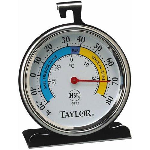 Taylor Refrigerator Thermometer -20 Deg F To 80 Deg F 3-1/4